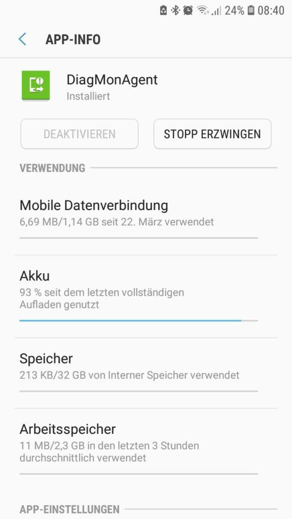 Samsung Akku Verbraucher